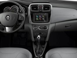 thumbs novo renault logan 2014 brasil seda flex interior painel dynamique Фотографии нового Renault Logan 2014