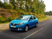 Renault Logan 2 синего цвета