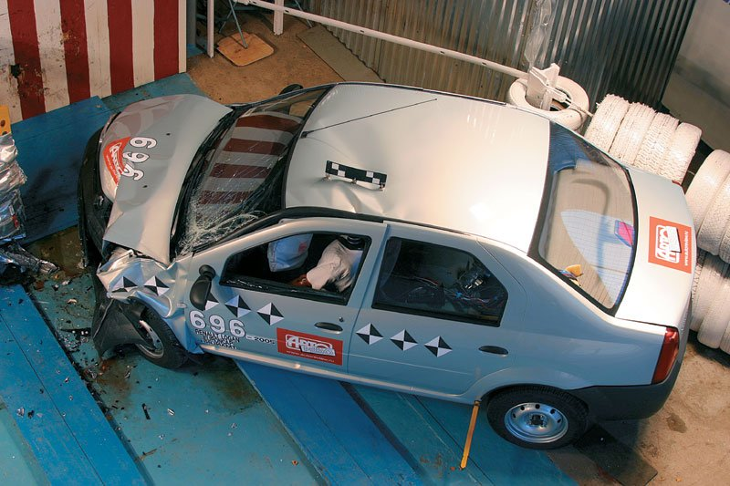 Краш-тест Renault Logan 2014