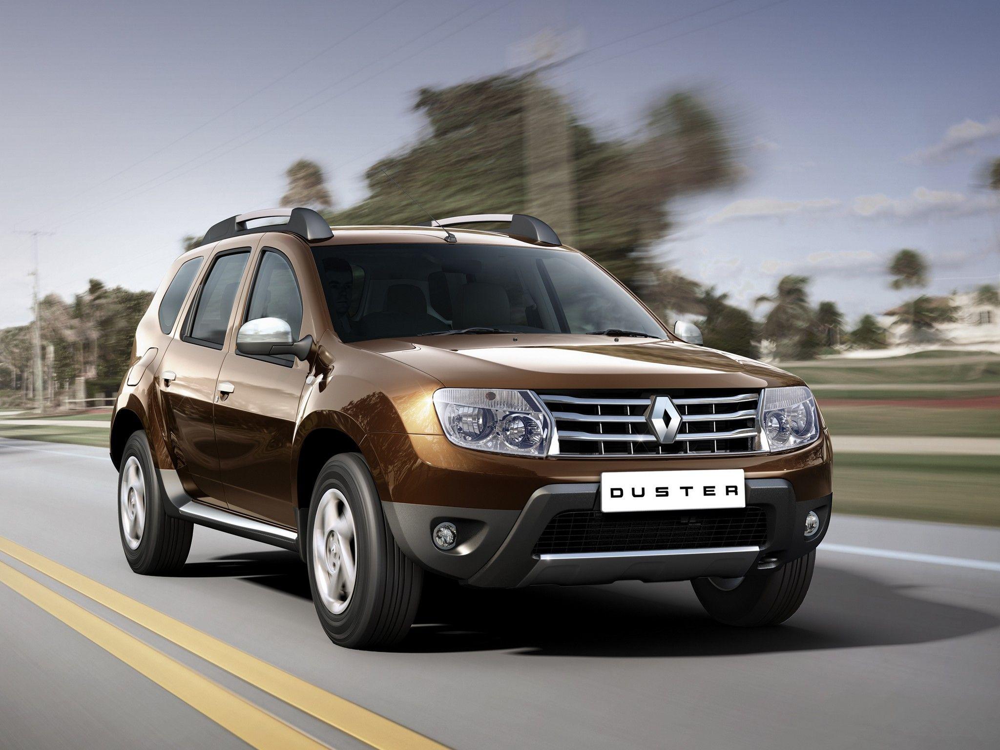 Renault Duster коричневого цвета
