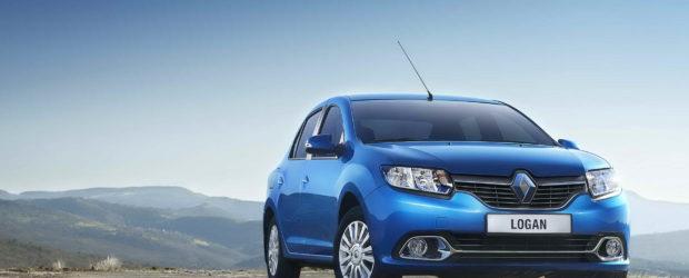 Renault Logan 2014 синего цвета