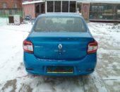Renault Logan синего цвета, вид сзади