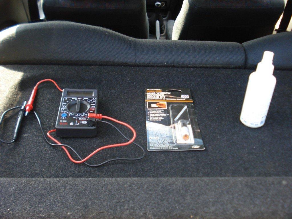 Инструменты для восстановления обогрева стекла автомобиля