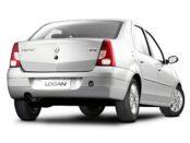 Renault Logan серебристого цвета