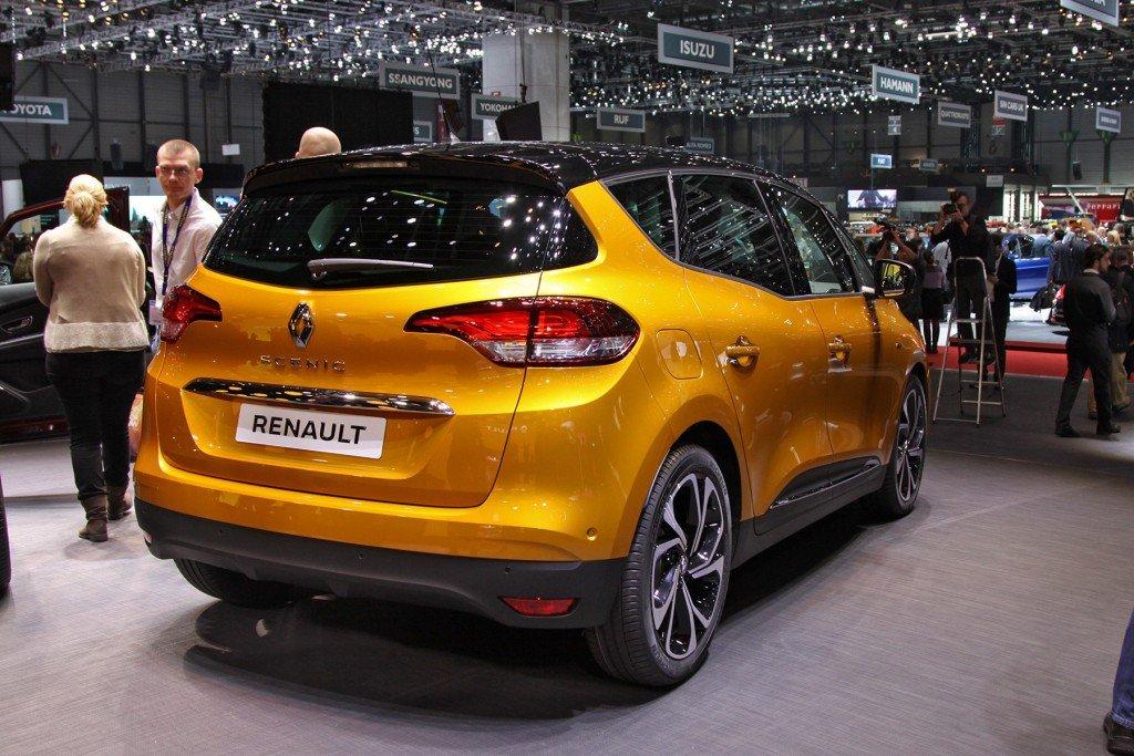 Renault Scenic, вид сзади