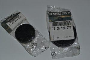 Заглушки распредвалов для 16-клапанного ДВС (K4M)  Малая: 7700274026  Большая: 7700106271 Рено Логан