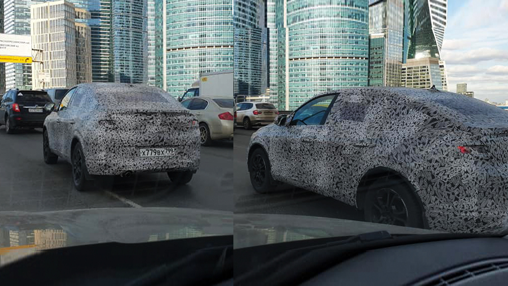 Новый автомобиль Renault Arkana поймали в объектив камеры в Москве