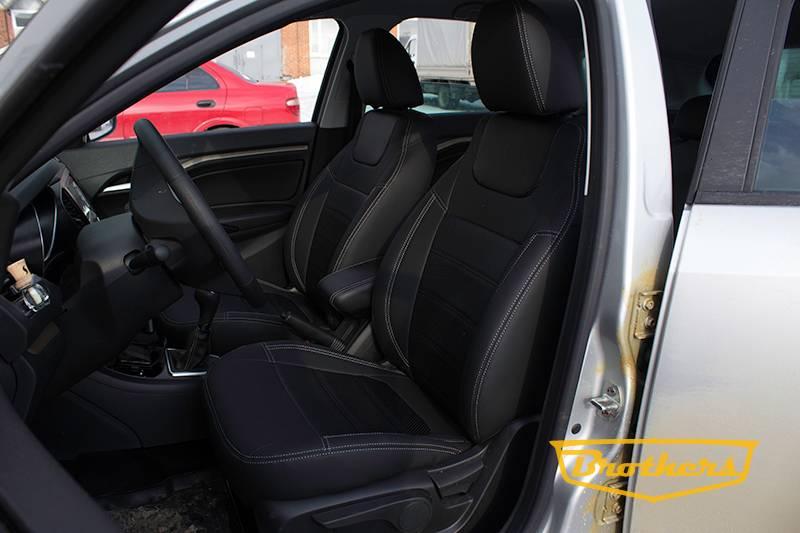 Привлекательная цена на авточехлы из экокожи - особенность продукции автоателье