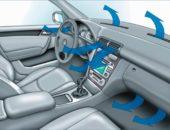 Схема движения воздуха при кондиционировании автомобиля