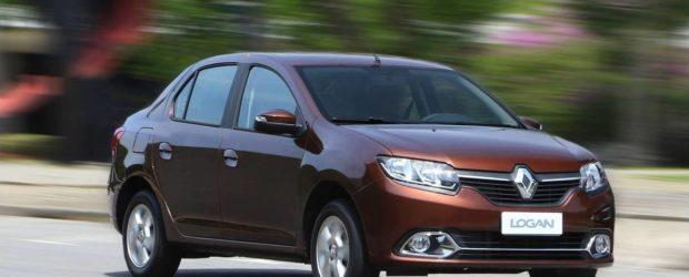 Renault Logan 2014 коричневого цвета