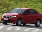 Renault Logan 2014 красного цвета