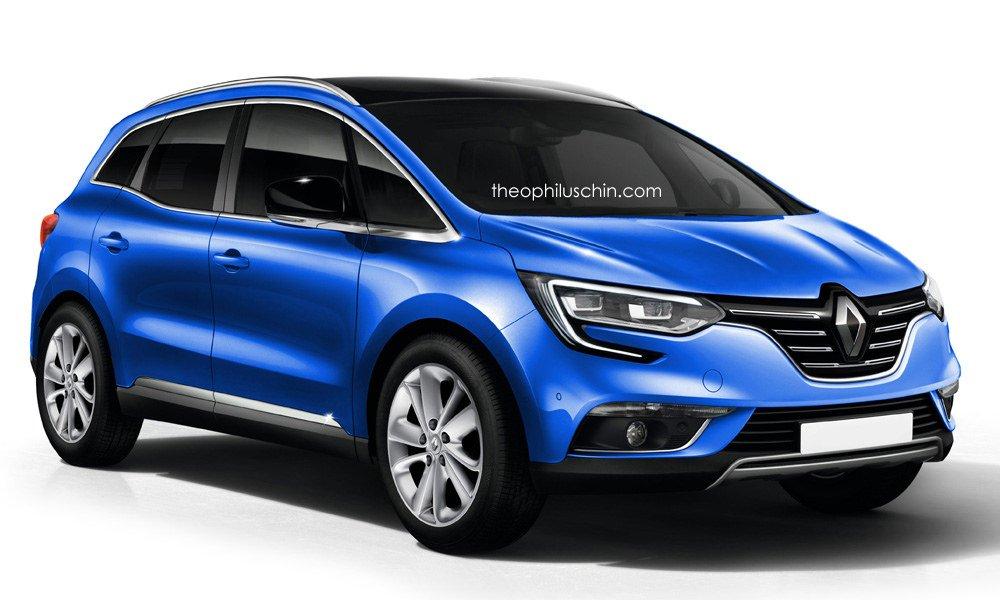 Renault Scenic 2016 спереди