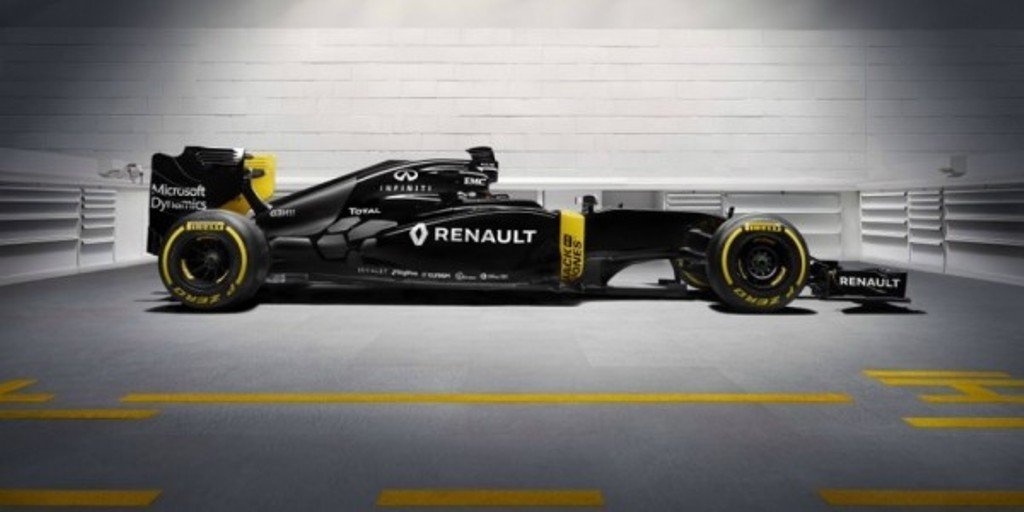 Renault RS16 вид сбоку
