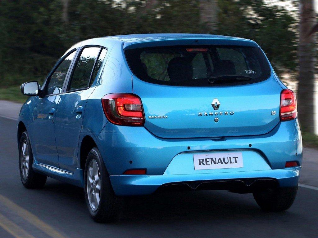 Renault Sandero, вид сзади
