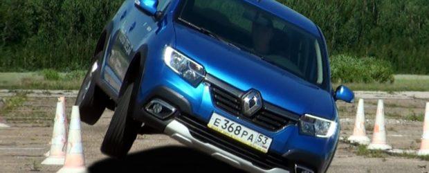 Попытка перевернуть Renault Logan и Sandero Stepway